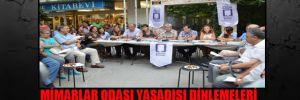 Mimarlar Odası yasadışı dinlemeleri protesto etmek için sokakta toplantı yaptı