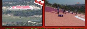 Türkiye'nin en büyük Türk bayrağı bakıma alındı