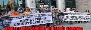 Adalet Sarayı önünde, Ali İsmail Korkmaz için 2 saatlik oturma eylemi