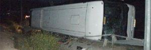 Kırşehir'de otobüs şarampole yuvarlandı: 48 yaralı