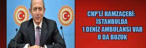 CHP'li Hamzaçebi: İstanbul'da 1 deniz ambulansı var o da bozuk
