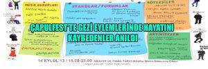 Çapulfest'te Gezi Eylemlerinde hayatını kaybedenler anıldı