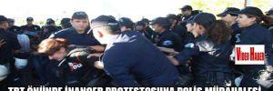 TRT önünde İnançer protestosuna polis müdahalesi