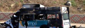 Feci kazada 1 çocuk yanarak öldü!