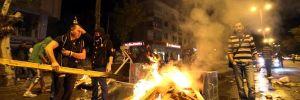 Başkent'te gösteriler sabaha kadar sürdü