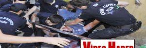 İzmit'te merdiven boyamak isteyen gençler gözaltına alındı