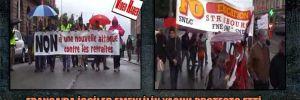 Fransa'da işçiler emeklilik yaşını protesto etti