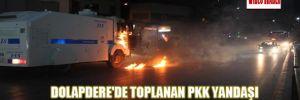 Dolapdere'de toplanan PKK yandaşı gruba polis müdahalesi