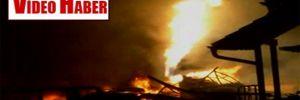 Gaz tesislerinde cehennemi andıran patlama ve yangın