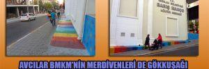 Avcılar BMKM'nin merdivenleri de gökkuşağı rengine büründü
