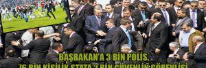 Başbakan'a 3 bin polis, 76 bin kişilik stata 2 bin güvenlik görevlisi