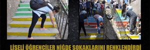 Liseli öğrenciler Niğde sokaklarını renklendirdi