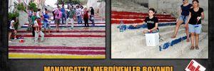 Manavgat'ta merdivenler boyandı