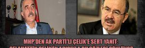MHP'den AKP'li Çelik'e sert yanıt: Selahattin Çelik'in acısıyla bu sözleri söylüyor