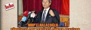 MHP'li Halaçoğlu: Türkiye'yi çok tehlikeli günler bekliyor