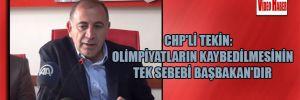 CHP'li Tekin: Olimpiyatların kaybedilmesinin tek sebebi Başbakan'dır