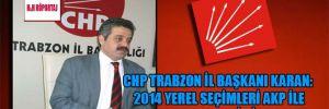 CHP Trabzon İl Başkanı Karan: 2014 yerel seçimleri AKP ile hesaplaşma seçimi olacak