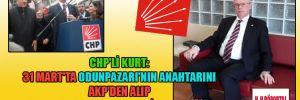 CHP'li Kurt: 31 Mart'ta Odunpazarı'nın anahtarını AKP'den alıp Genel Başkan'ımıza teslim edeceğim
