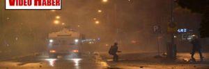 Denizli'de, Berkin protestosuna TOMA'lı POLİS müdahalesi