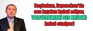 Başbakan, Ergenekon'da ses kaydını kabul ediyor, yolsuzluktaki ses kaydını kabul etmiyor!