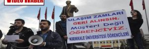 Kırıkkale'de öğrencilerden 'ulaşım ücreti' protestosu