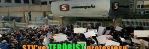 STV'ye terörist protestosu