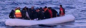 Samos Adası'na 2 gün içinde 113 göçmen geçti