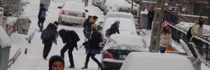 Çorum'da okullar kar nedeniyle tatil edildi