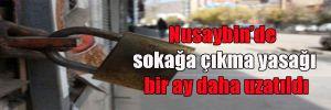 Nusaybin'de sokağa çıkma yasağı bir ay daha uzatıldı