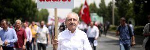 Adalet Yürüyüşü'nün 10 kilometre taşı!