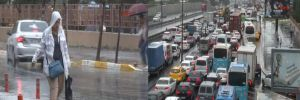 Beklenen yağmur İstanbul'a geldi