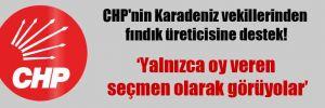 CHP'nin Karadeniz vekillerinden fındık üreticisine destek!