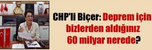 CHP'li Biçer: Deprem için bizlerden aldığınız 60 milyar nerede?