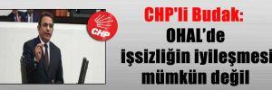 CHP'li Budak: OHAL'de işsizliğin iyileşmesi mümkün değil