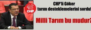 CHP'li Göker tarım desteklemelerini sordu!