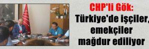 CHP'li Gök: Türkiye'de işçiler, emekçiler mağdur ediliyor