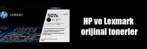 HP ve Lexmark orijinal tonerler