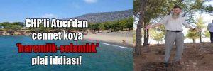 CHP'li Atıcı'dan cennet koya 'haremlik-selamlık' plaj iddiası!