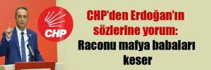 CHP'den Erdoğan'ın sözlerine yorum: Raconu mafya babaları keser