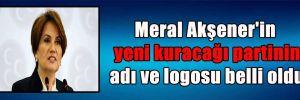 Meral Akşener'in yeni kuracağı partinin adı ve logosu belli oldu