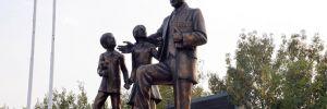 Tahrip edilen anıt onarıldı