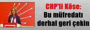 CHP'li Köse: Bu müfredatı derhal geri çekin
