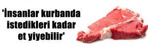 'İnsanlar kurbanda istedikleri kadar et yiyebilir'