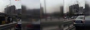 İstanbul'da metroda yangın