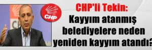 CHP'li Tekin: Kayyım atanmış belediyelere neden yeniden kayyım atandı?