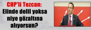 CHP'li Tezcan: Elinde delil yoksa niye gözaltına alıyorsun?