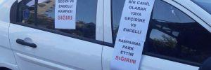 Yer: İzmir… Yaya geçidine park edince!..
