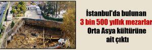 İstanbul'da bulunan 3 bin 500 yıllık mezarlar Orta Asya kültürüne ait çıktı
