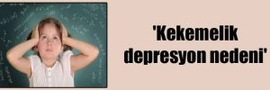 'Kekemelik depresyon nedeni'