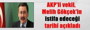AKP'li vekil, Melih Gökçek'in istifa edeceği tarihi açıkladı